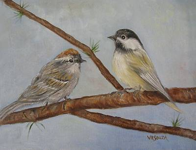 Warbler Mixed Media - Birds In View by Virginia Souza