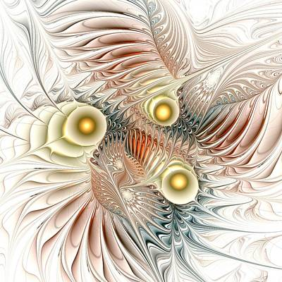 Abstract Digital Art - Birds Of Paradise by Anastasiya Malakhova