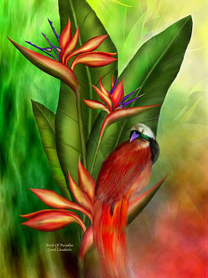 Animal Art Giclee Mixed Media - Birds Of Paradise by Carol Cavalaris