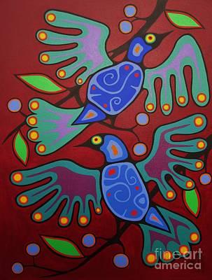 Birds Resting Print by Jim Oskineegish