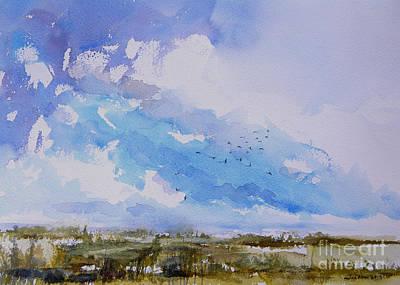Painting - Birds Rising II by Julianne Felton
