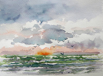 Painting - Birds Rising IIi by Julianne Felton
