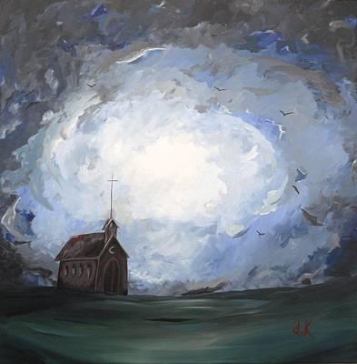 Church Painting - Birds That Pray by David Keenan