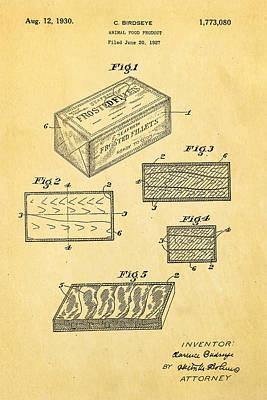 Birdseye Photograph - Birdseye Frozen Food Patent Art 1930 by Ian Monk