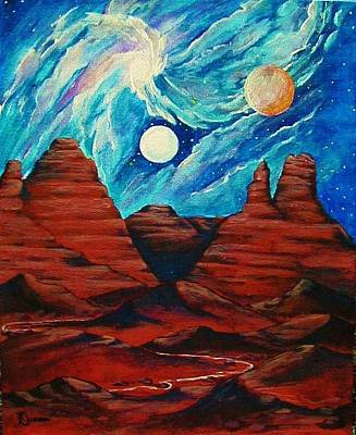 Cosmic Space Painting - Birth Of Sedona Nebula by Diana Dearen