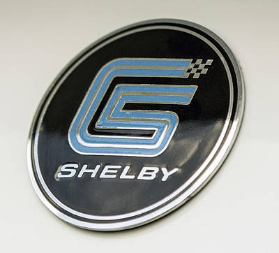 Birthday Car - Shelby Logo Print by Josh Bryant