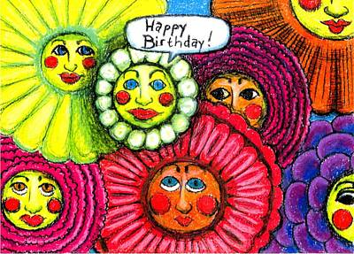 Birthday Flowers Print by Genevieve Esson