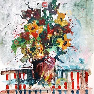 Birthday Flowers Print by Micheal Jones