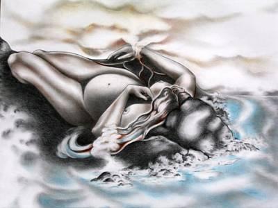 Birthing Lands Original by Jaya C Dupuis