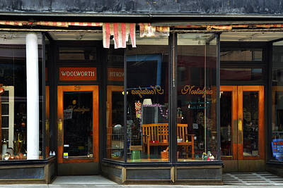 Vintage Photograph - Bisbee Arizona Store Front by Dave Dilli