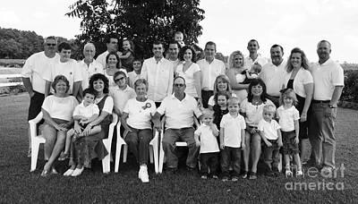 Photograph - Bishop Family Portrait - Bw by Paulette Thomas