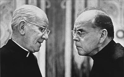 Bishops Talk Print by Underwood Archives