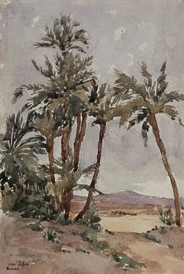 Sahara Drawing - Biskra  by Henri Duhem