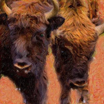Bison Mixed Media - Bison by Toppart Sweden