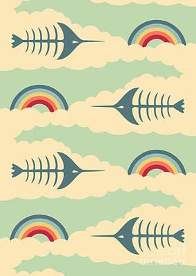 Swordfish Digital Art - Bittersweet - Pattern by Freshinkstain