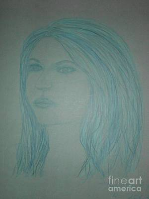 Etc Drawing - Biviana In Blue by James Eye