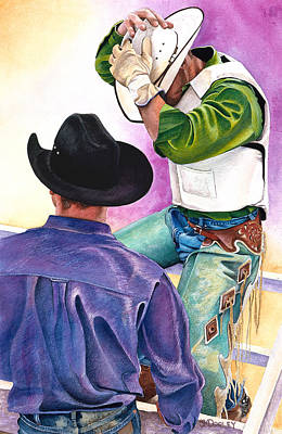 Cowboy Hat Painting - Bj's Ride by JK Dooley