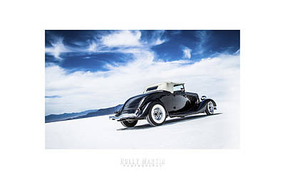 Antique Automobile Photograph - Black And Blue by Holly Martin