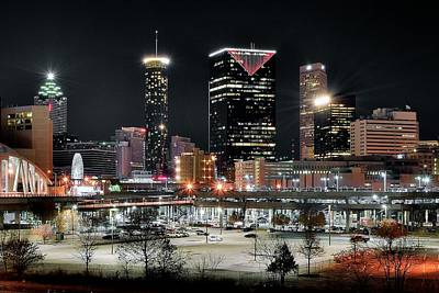 Atlanta In Black And Color Print by Frozen in Time Fine Art Photography