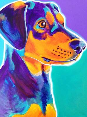 Coonhound Painting - Black And Tan Coonhound - Charlie by Alicia VanNoy Call