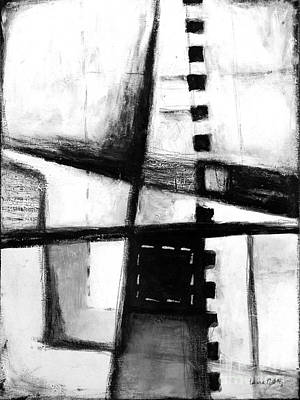 Negro Mixed Media - Black And White Abstract Contemporary Minimal Art By Laura Gomez by Laura  Gomez