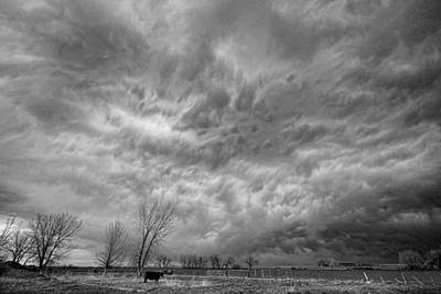 Corporate Art Photograph - Black And White Angry Skies by James BO  Insogna