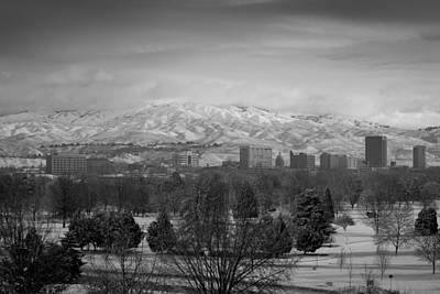 Horizontal Photograph - Black And White Boise by Steve Smith