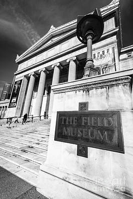 Black And White Chicago Field Museum Print by Paul Velgos