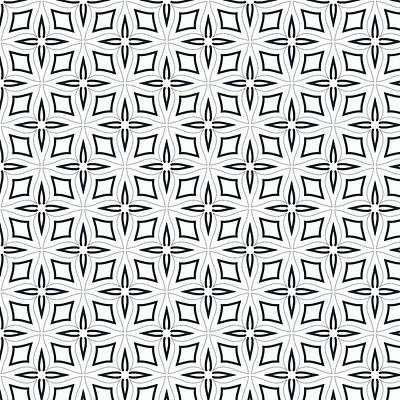 Black And White Designs Print by Savvycreative Designs
