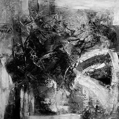Abstract Painting - Black And White Digital Print by Andrada Anghel