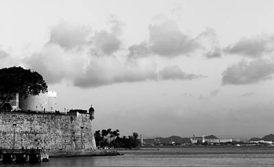 Black And White Garita Old San Juan Print by Samuel Gonzalez