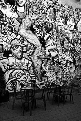 Urban Art Photograph - Black And White Graffiti by Pierre Leclerc Photography