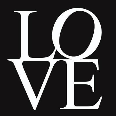 Friendly Digital Art - Black And White Love by Georgia Fowler