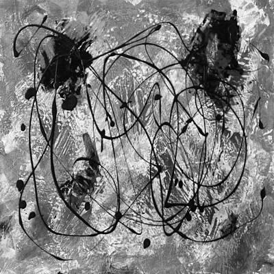 Black And White Print by Nancy Merkle