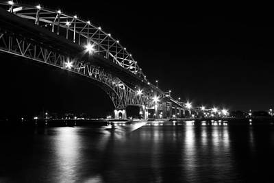 Architecture Photograph - Black And White Of The Blue Water Bridge by Dennis Gilmore