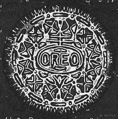 Black And White Oreo Print by Rob Hans