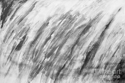 Black And White Painting Pattern Print by Michal Bednarek