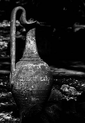 Black And White Pitcher Print by Jay Droggitis