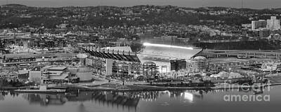 Downtown Pittsburgh Photograph - Black And White Reflections On The North Shore by Adam Jewell