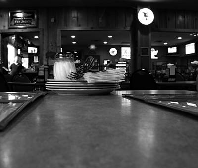 Dining Out Photograph - Black And White Restaurant Scene by Dan Sproul