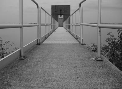 Black And White Walkway Print by Dan Sproul