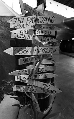 Black And White World Directions Print by Dan Sproul