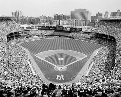 Old Yankee Photograph - Black And White Yankee Stadium by Horsch Gallery