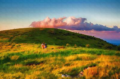Grand Memories Painting - Black Balsam Hikers by John Haldane