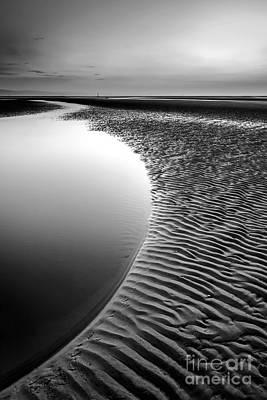 North Wales Digital Art - Black Beach by Adrian Evans