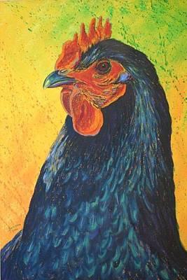 Splashy Art Painting - Black Betty by Cynthia Sampson