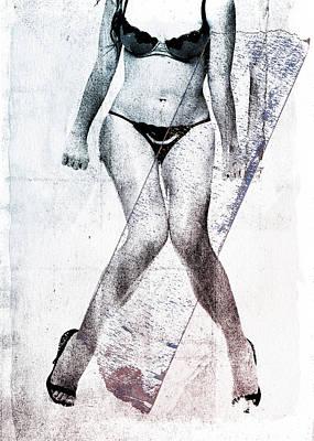 Shoe Digital Art - Black Bikini by David Ridley