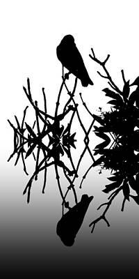 Blackbird Digital Art - Black Birds 2 by Sharon Lisa Clarke