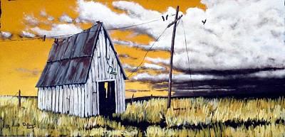 Menace Painting - Black Birds by Michael Dillon