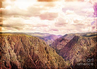 Black Canyon Colorado Print by Janice Rae Pariza
